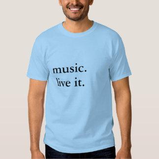 música. vive playera
