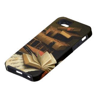 Música y literatura por Harnett, realismo del iPhone 5 Case-Mate Carcasa