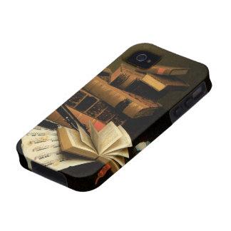 Música y literatura por Harnett, realismo del Vibe iPhone 4 Fundas