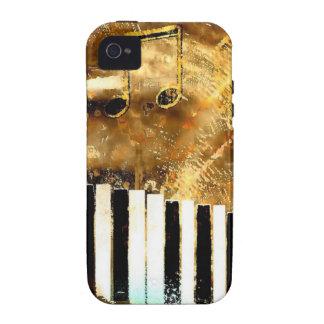 Música y notas elegantes del piano iPhone 4/4S carcasa