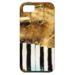 Música y notas elegantes del piano iPhone 5 Case-Mate protector