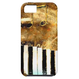 Música y notas elegantes del piano funda para iPhone 5 tough