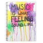 Música y sensaciones libros de apuntes