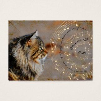 Música y tarjetas de visita de los gatos