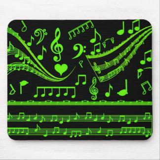 Música y yo, en Green_ Alfombrilla De Ratones
