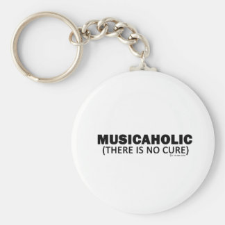 Musicaholic (There Is No Cure) Basic Round Button Keychain