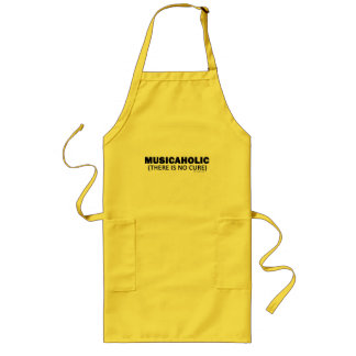 Musicaholic (There Is No Cure) Long Apron