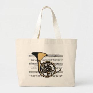 Musical 06 B de la trompa Bolsa De Tela Grande