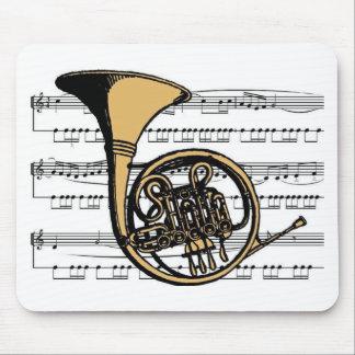 Musical 06 B de la trompa Alfombrillas De Ratón