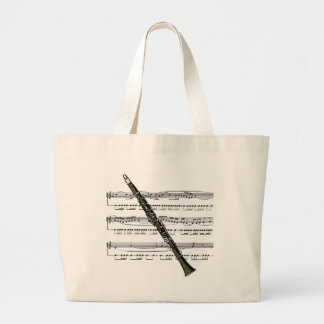 Musical 09 B del Clarinet Bolsa De Tela Grande