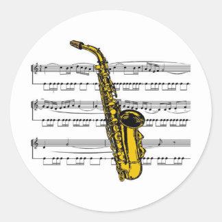 Musical 13 B del saxofón Etiqueta Redonda