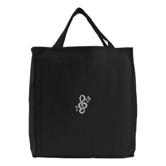 Musical 2 embroidered tote bag