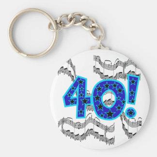 Musical 40th Birthday Key Chain