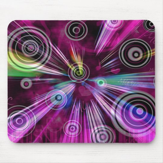 Musical Abstract Pattern Mouse Pad