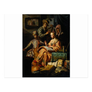 Musical Allegory by Rembrandt Postcard