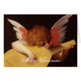 Musical Angel Merry Christmas Card