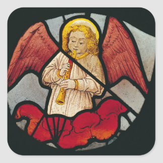 Musical Angel Square Sticker