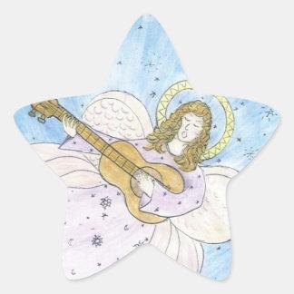 Musical Angel Star Sticker