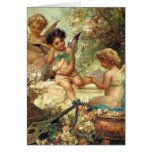 Musical Angels by Zatzka, Vintage Victorian Easter Greeting Cards