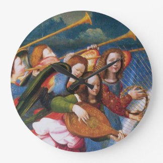 MUSICAL ANGELS FROM THE CORONATION OF THE VIRGIN LARGE CLOCK