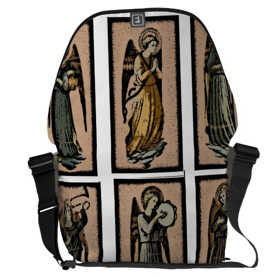 Musical Angels messenger bag bywhacky