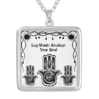 Musical Awakening Square Pendant Necklace