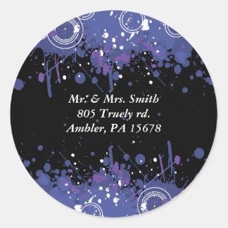 Musical Bar Bat Mitzvah Reply card sticker seal Round Sticker