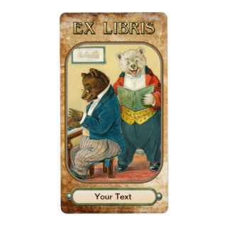 Musical Bears - Book Plate ID Label