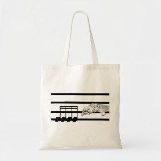 Musical Bengal cat Tote Bag