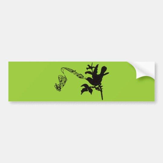Musical Bird Change Colors Bumper Sticker