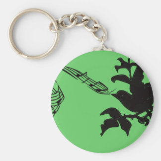 Musical Bird Change Colors Keychain