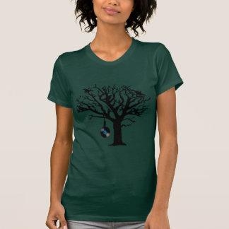 Musical Birds in Tree 2 Hangman blue vinyl T-shirts