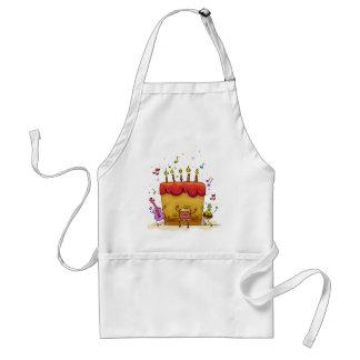 Musical Birthday Cake Adult Apron