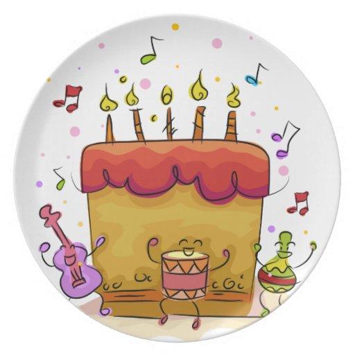 Musical Birthday Cake Plate
