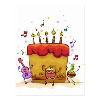 Musical Birthday Cake Post Cards