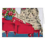 Musical Birthday Kittens Greeting Card