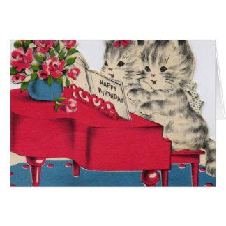 Musical Birthday Kittens Greeting Card