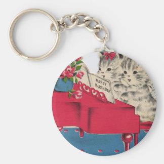 Musical Birthday Kittens Key Chain