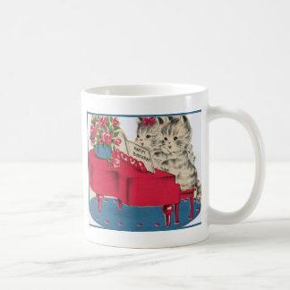 Musical Birthday Kittens Classic White Coffee Mug