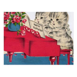 Musical Birthday Kittens Postcard