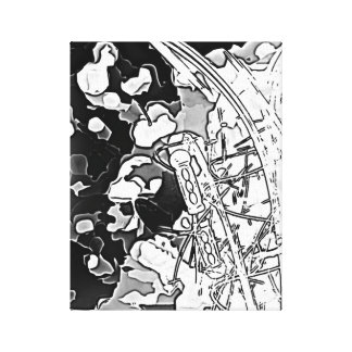 Musical - black and white music impression canvas print