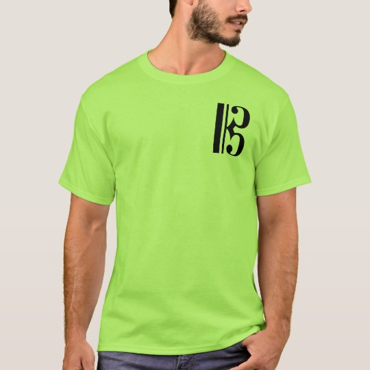 Musical Black C Clef T-Shirt