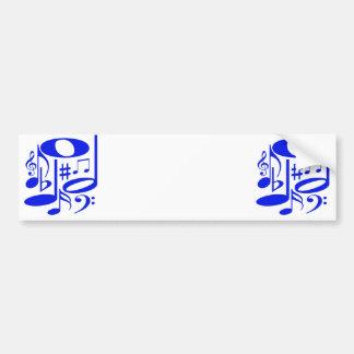 Musical Blue Bumper Sticker
