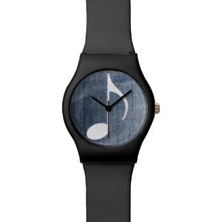 musical blue jeans wristwatches