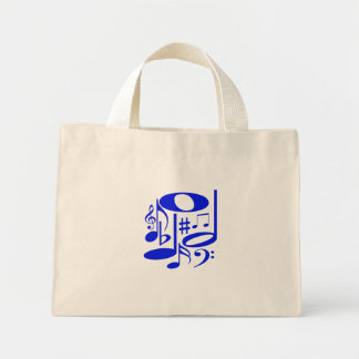 Musical Blue Tote Bag