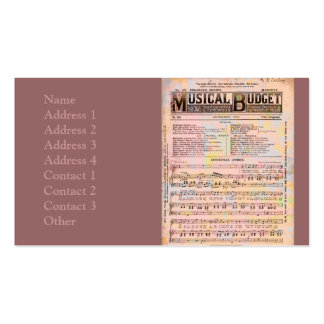 Musical Budget Christmas Double-Sided Standard Business Cards (Pack Of 100)