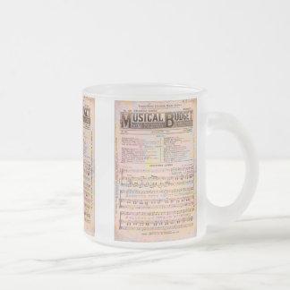 Musical Budget Christmas Frosted Glass Coffee Mug