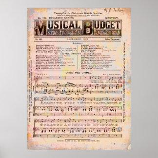 Musical Budget Christmas Poster