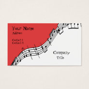 Musical Business Card at Zazzle