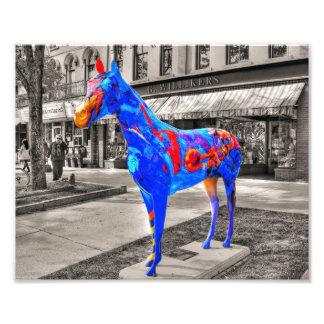Musical, caballo pintado artístico impresion fotografica